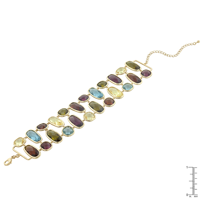 Multi-Color Gem Fashion Bracelet