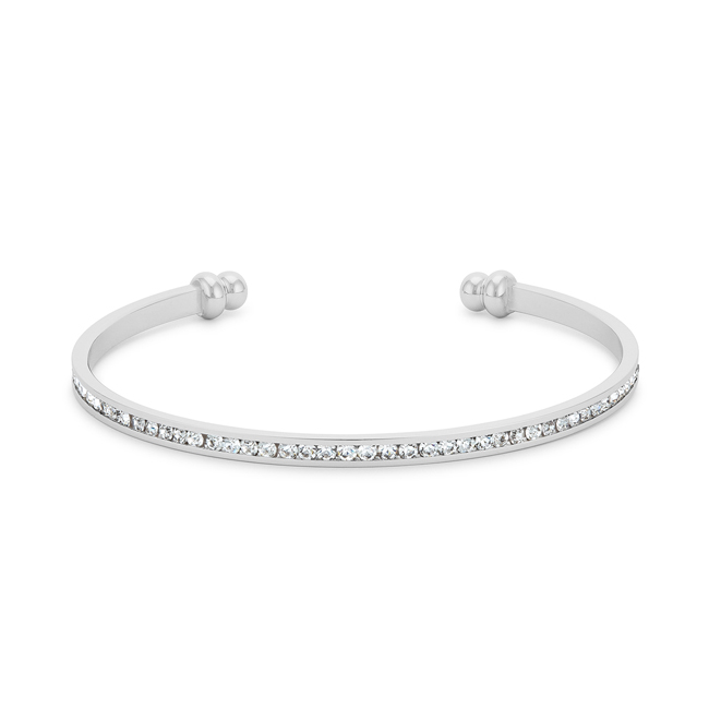 Channel-Set Clear Crystal Cuff