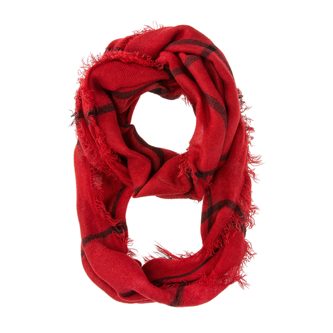 Tori Red Plaid Infinity Scarf