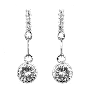 Simple Cubic Zirconia Drop Earrings