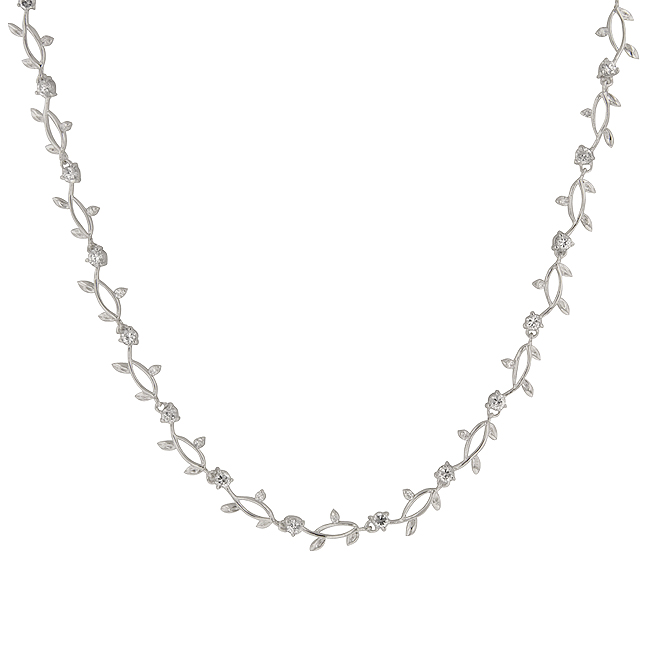 Silvertone Vineyard Necklace