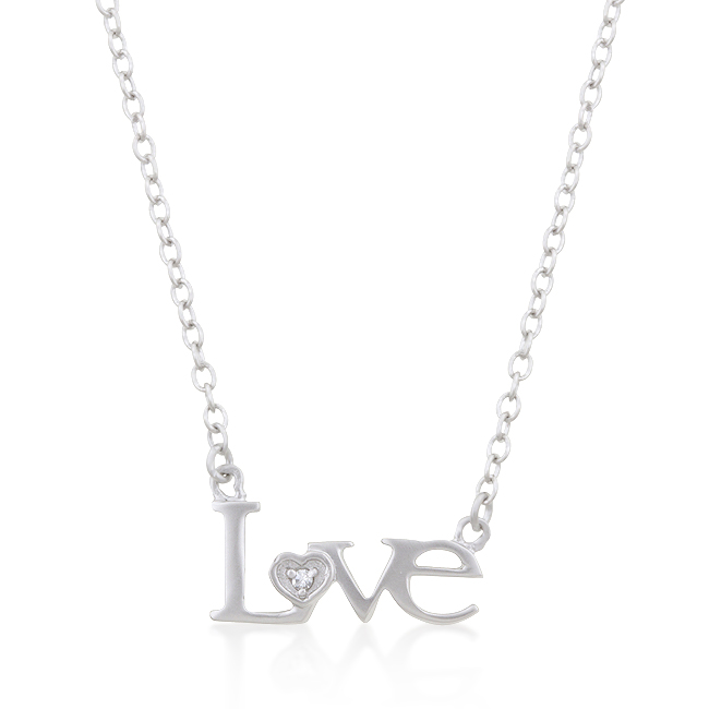 Love Script Necklace #1