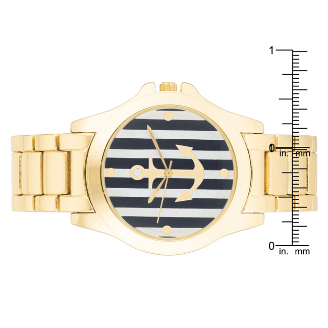 Nautical Gold Watch Black