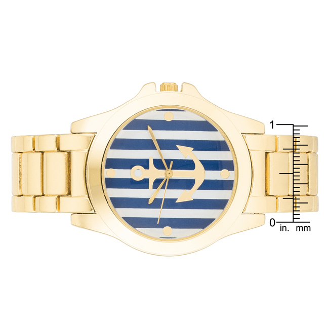 Nautical Gold Watch Navy