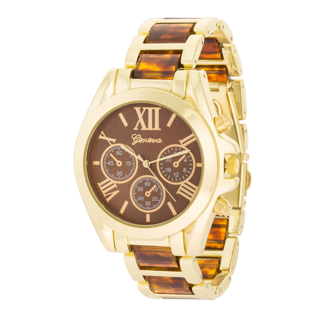 Tortoise Gold Watch