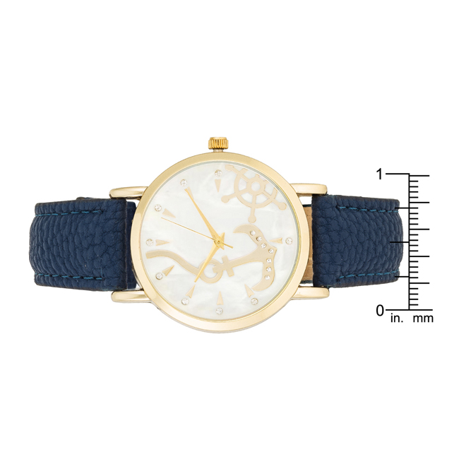 Navy Nautical Leather Watch #3