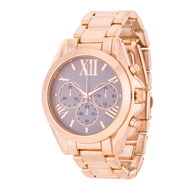 Roman Numeral Rose Gold Watch