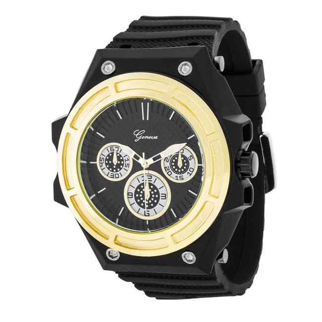 Men's Chronograph Sports Watch Gold