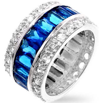 Triple Row Sapphire Eternity Band (Size: 4)