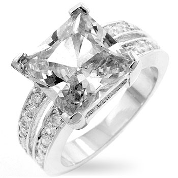 White Princess Engagement Ring (Size: 5)