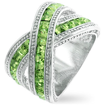 Twisting Green Band (Size: 5)