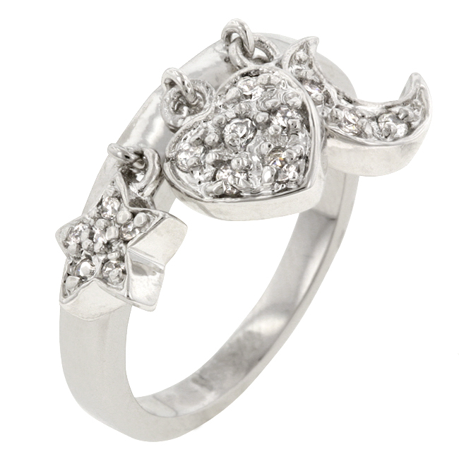 Triple Charm Ring (Size: 5)
