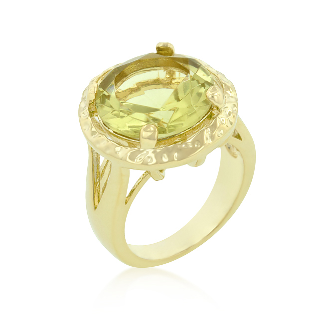 Yellow Cubic Zirconia Organic Ring (Size: 5)
