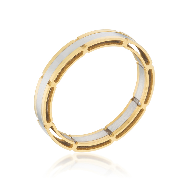 Two Tone Band Ring (Size: 9)
